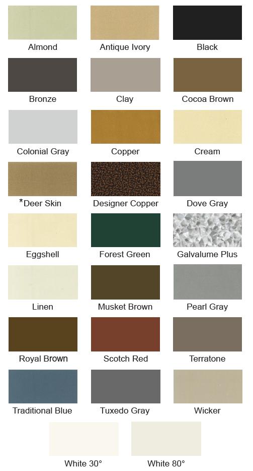 Shingle Colors Membrane Colors Deck Waterproofing